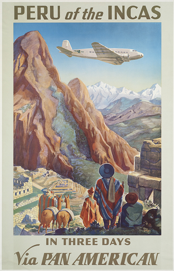 classic posters, free download, free posters, free printable, graphic design, printables, retro prints, travel, travel posters, vintage, vintage posters, vintage printables, Peru of the Incas - Vintage Travel Poster