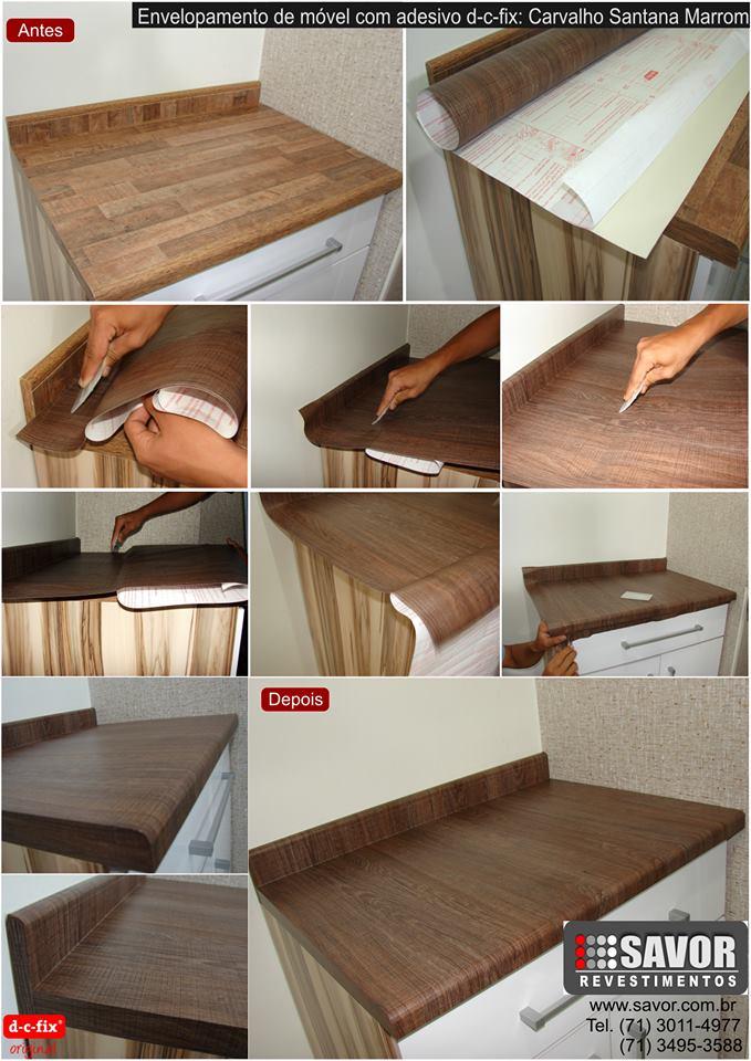 Armario Lavabo Encastrado ~ Adesivo que imita madeira Decoraç u00e3o e Lugares