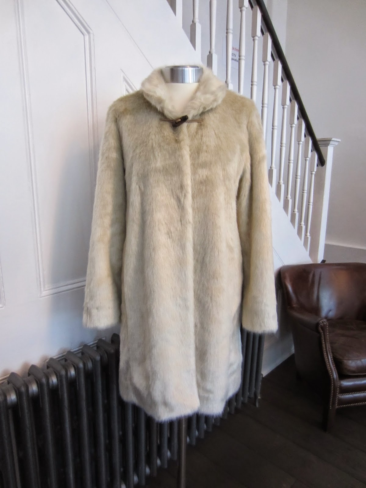 Bellerose Cream Faux Fur Coat