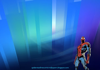Spiderman desktop Wallpaper Comic Hero Standing Tall in Crystal Landscape Desktop wallpaper