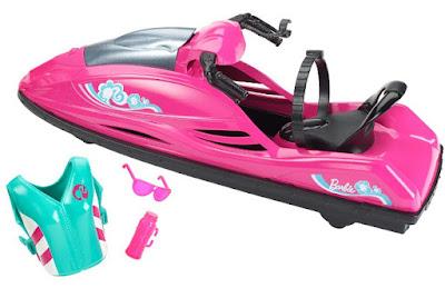 JUGUETES - BARBIE - Moto Acuática | Moto de agua  Barbie Let's Go Wave Ride! | Water Sooter  Producto Oficial 2015 | Mattel CGL98 | A partir de 4 años  Muñeca no incluída | Comprar en Amazon