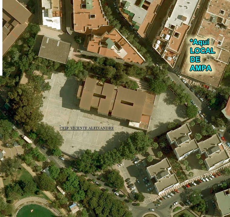 Foto aérea colegio