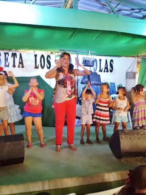 Animación con Isabel Camiña en la feria de Las Cabezas