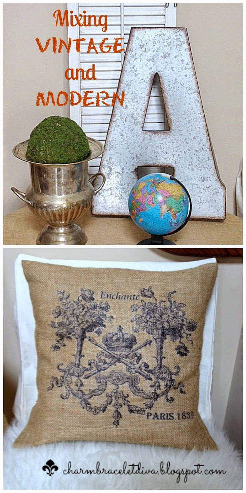 Example of how to mix modern and vintage decor