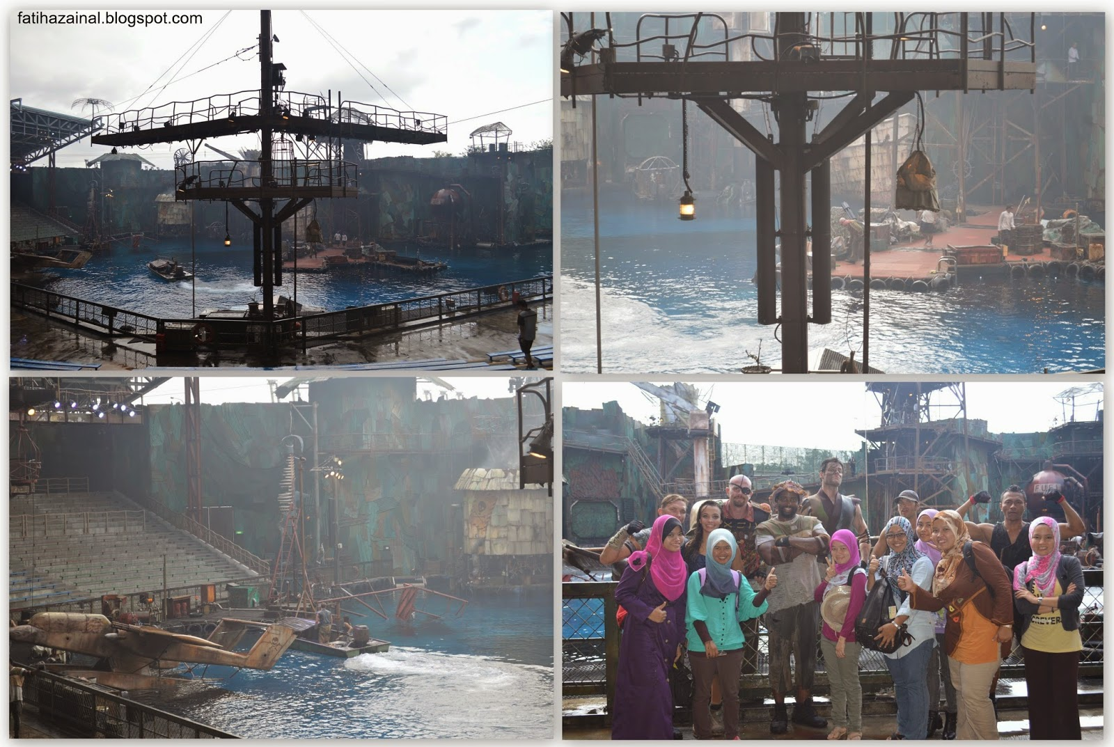 water show, waterworld , uss singapore