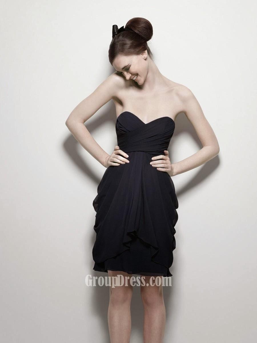 Indigo Strapless Sweetheart Short Bridesmaid Dress