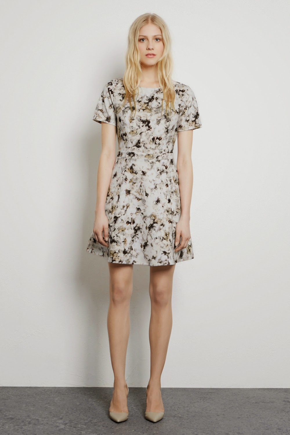 warehouse grey floral dress