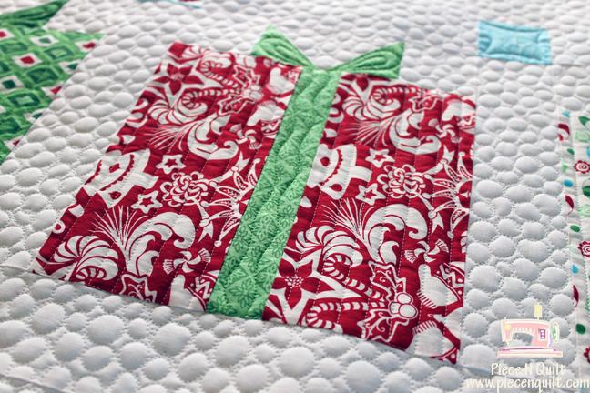 Piece N Quilt Flurry Christmas Present Quilt
