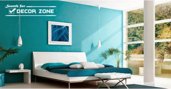 White Bedroom Designs With Turquoise Wall And Mattress