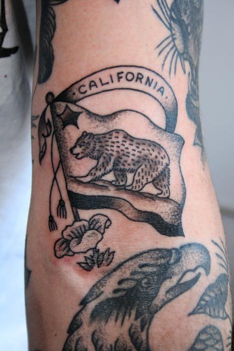 One of many california bear flag tattoos bear flag museum for California bear tattoos