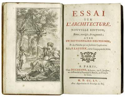 essay architecture marc antoine laugier Essai sur l'architecture -- 1753 -- livre  livre essai sur l'architecture laugier,  marc-antoine (1713-1769) auteur du texte  panier espace personnel.
