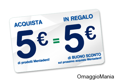 5 euro sconti mentadent