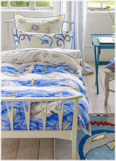 Whale at a time Designers Guild Kids. Funda nordica infantil y juego de sabanas