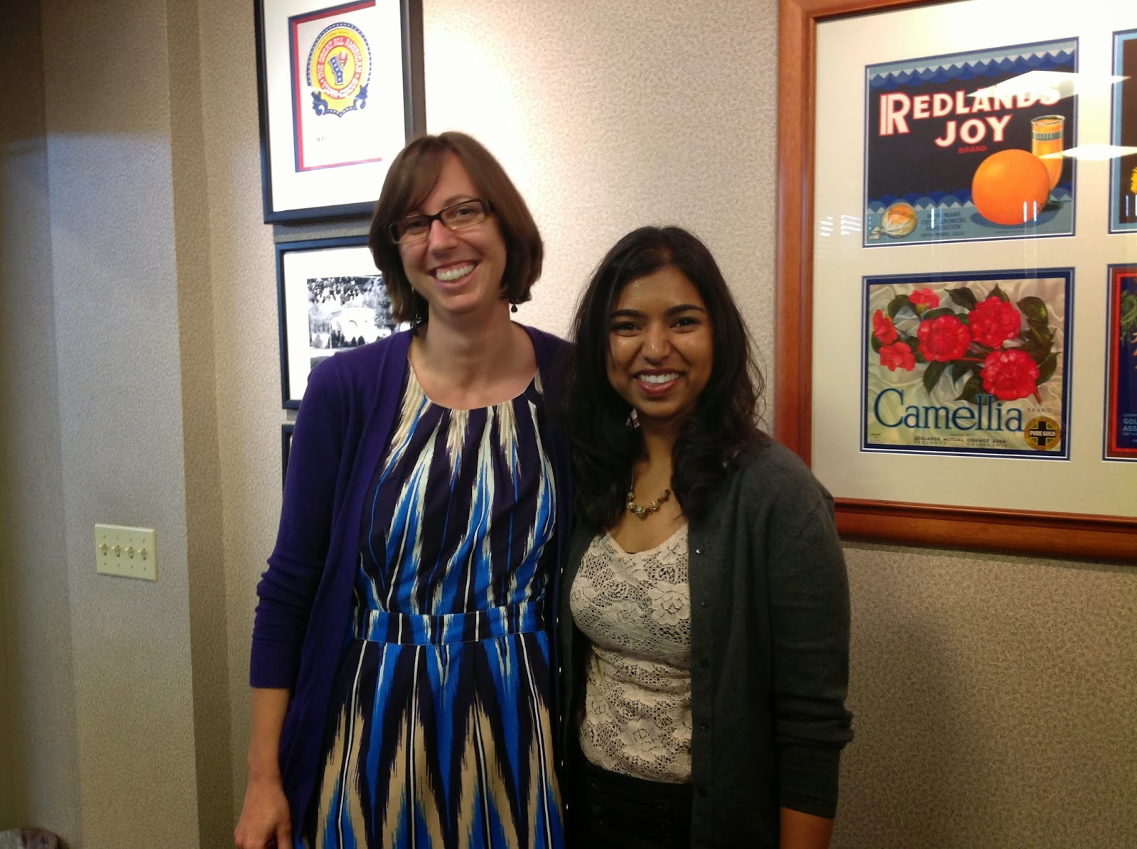 Mounika Parimi with faculty advisor Dr. Katherine Baber (Music)
