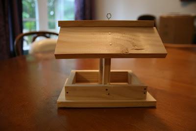 montessori wood working bird feeder