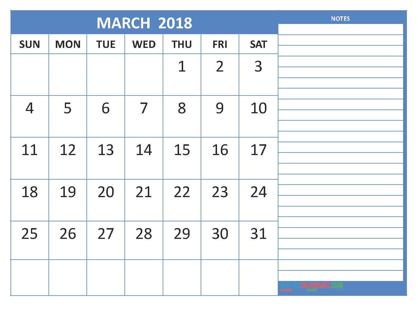 New 2018 free march 2018 printable calendar blank templates march 2018 calendar march calendar 2018 march 2018 calendar printable march 2018 calendar pronofoot35fo Images