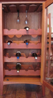 wood wine storage cabinet
