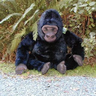 a stuffed gorilla