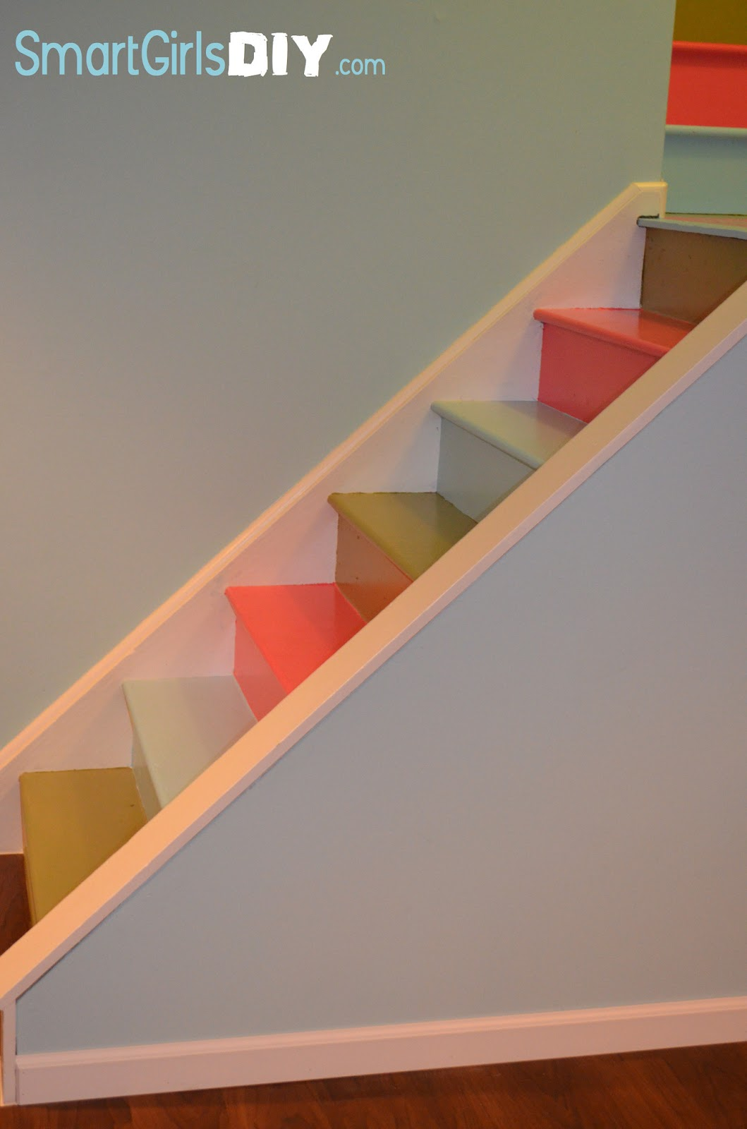 Awesome Painted Basement Stairs Smart Girls DIY