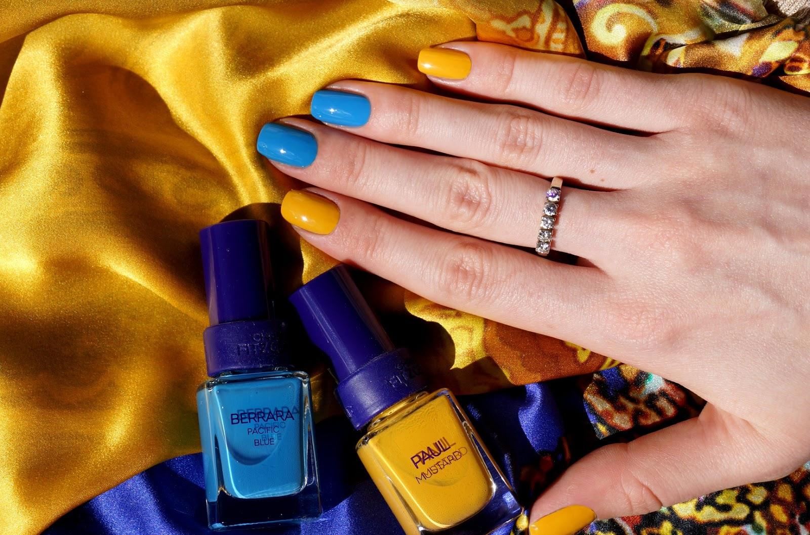 Сочетание цветов лака для ногтей желтый