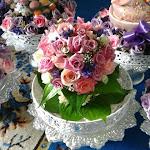 Sireh Junjung - purple & pink roses..