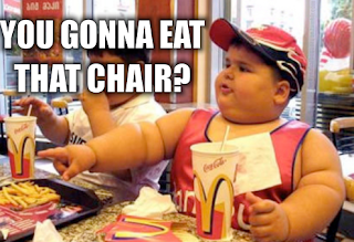 you gonna eat that chair, fat asian kid