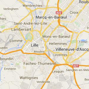 capture Google Maps - plan de Lille (vue générale)