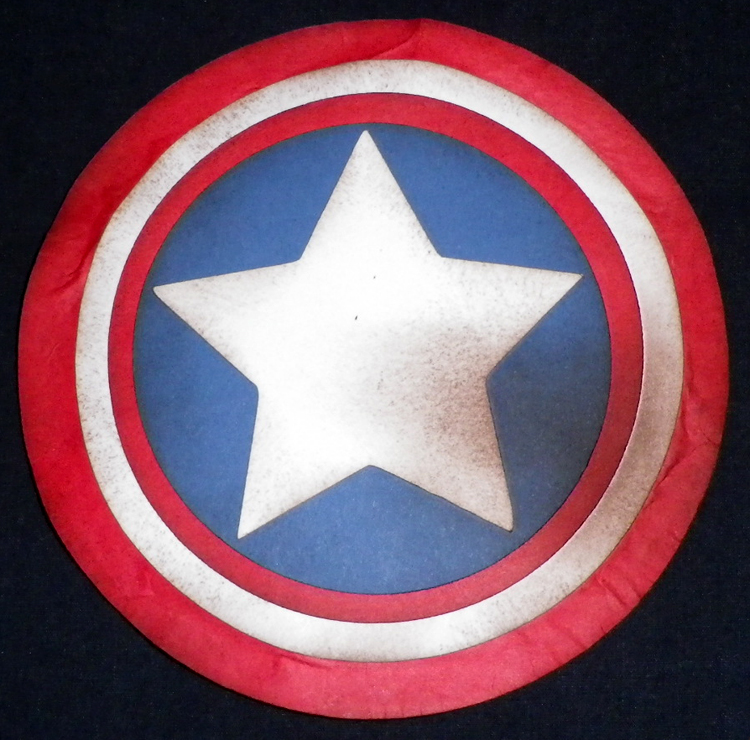 Cards By Cg Captain America Shield Shaped Card Captain America Shield Color