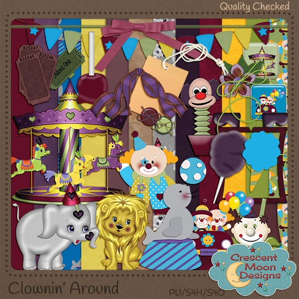 Clownin' Around by Crescent Moon Designs