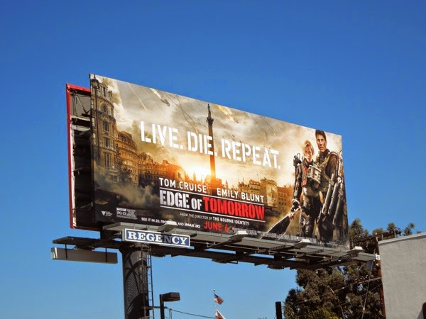 Edge of Tomorrow movie billboard