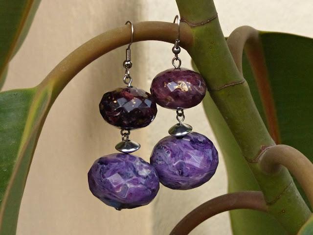 Amethyst imitation earrings