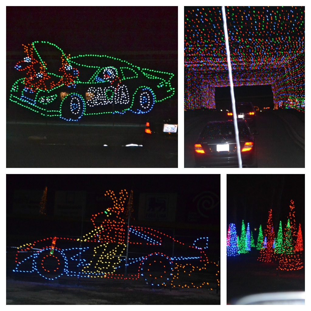 Beyond our wildest dreams rollin through our christmas for Lowes motor speedway christmas lights