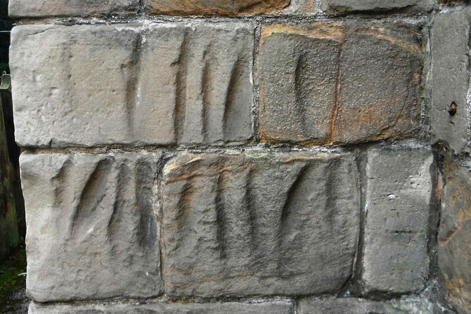 Checkley Church arrow-head markings