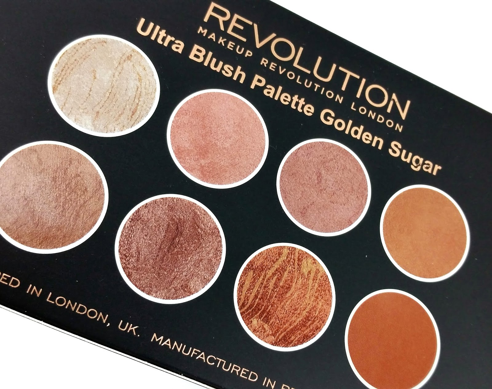 Makeup Revolution Ultra Blush Palette Golden Sugar Review Swatches Make Up