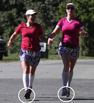 The Average Woman's Running Blog: Running form gone bad
