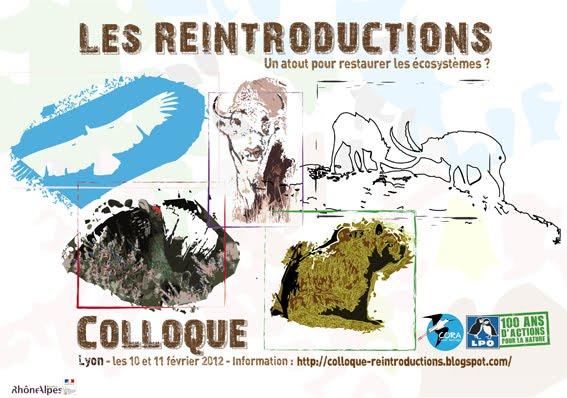Colloque sur les réintroductions   10 et 11 février 2012 Lyon