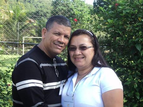 Manoel A. Ribeiro(Pr. Presidente ADECIN) e sua esposa Miss. Raquel