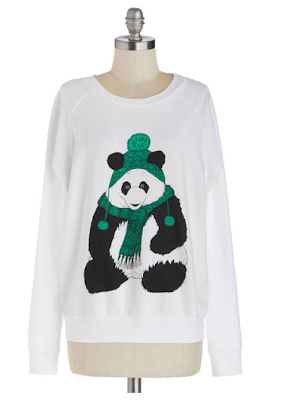 cute animal sweatshirt, fashion, trends, fashion trends, trendspotting, trend-spotting, Modcloth Grr It's Cold Sweatshirt