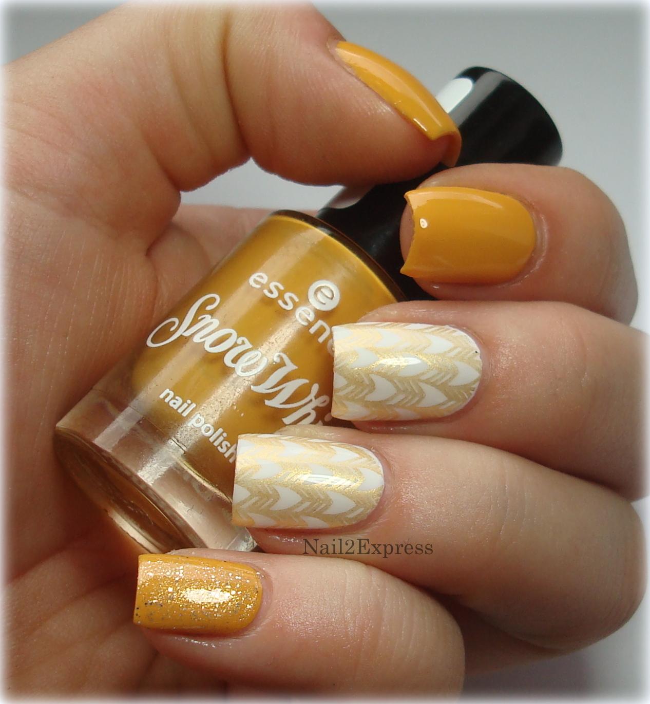 Honey Yellow Nail Polish: Mustard Yellow Skittlette Manicure