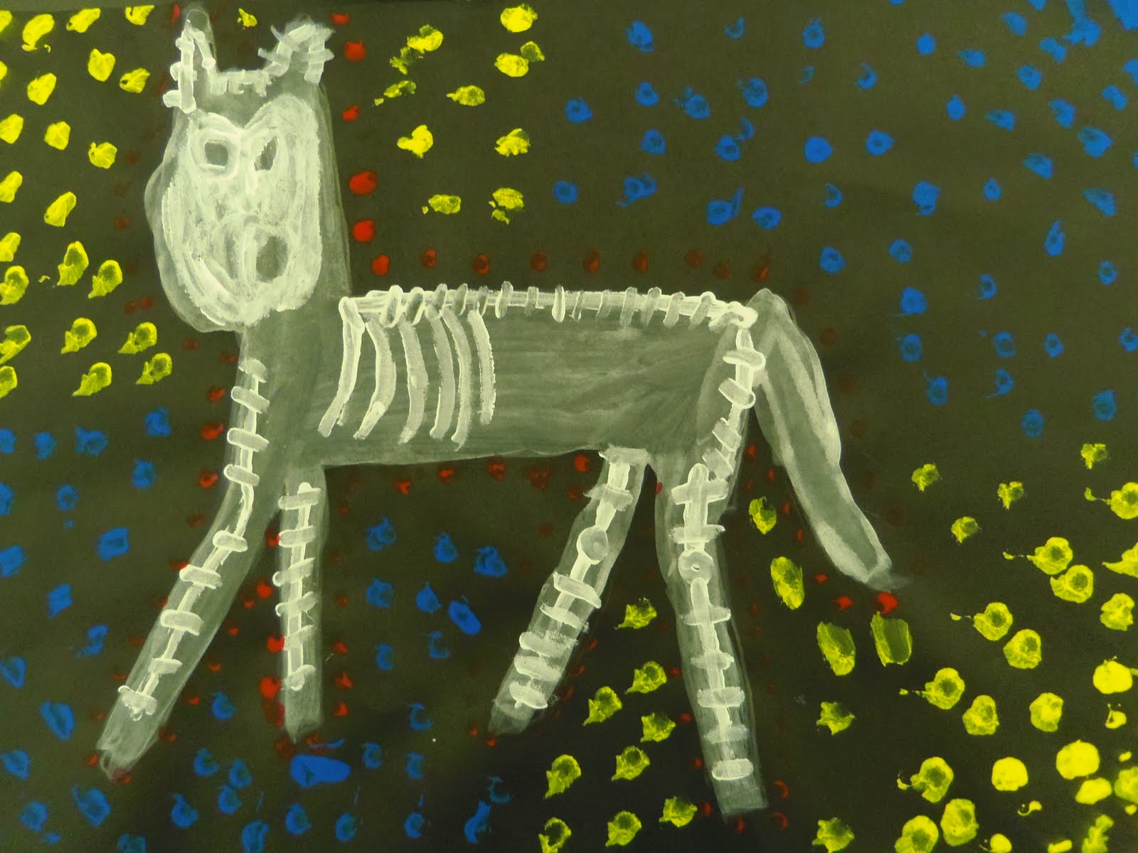 Art kids of benavidez elementary aboriginal x ray paintings for X ray painting