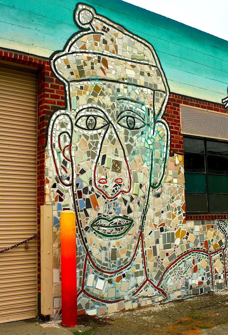 Oakland daily photo monday mural mosaic man for Mural mosaic
