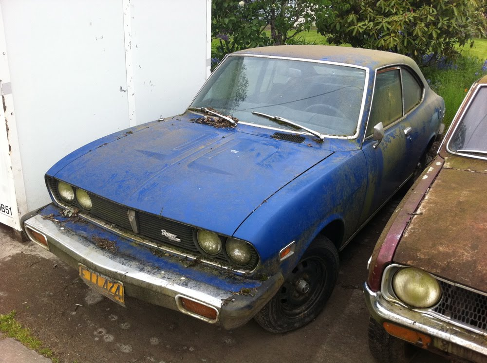 Old parked cars mossy mazda 1 1974 mazda rx 2 coupe for Mossy motors used cars