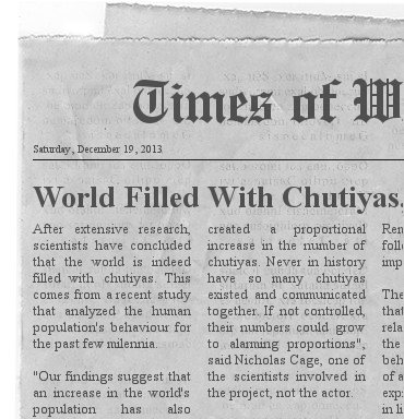 mock newspaper