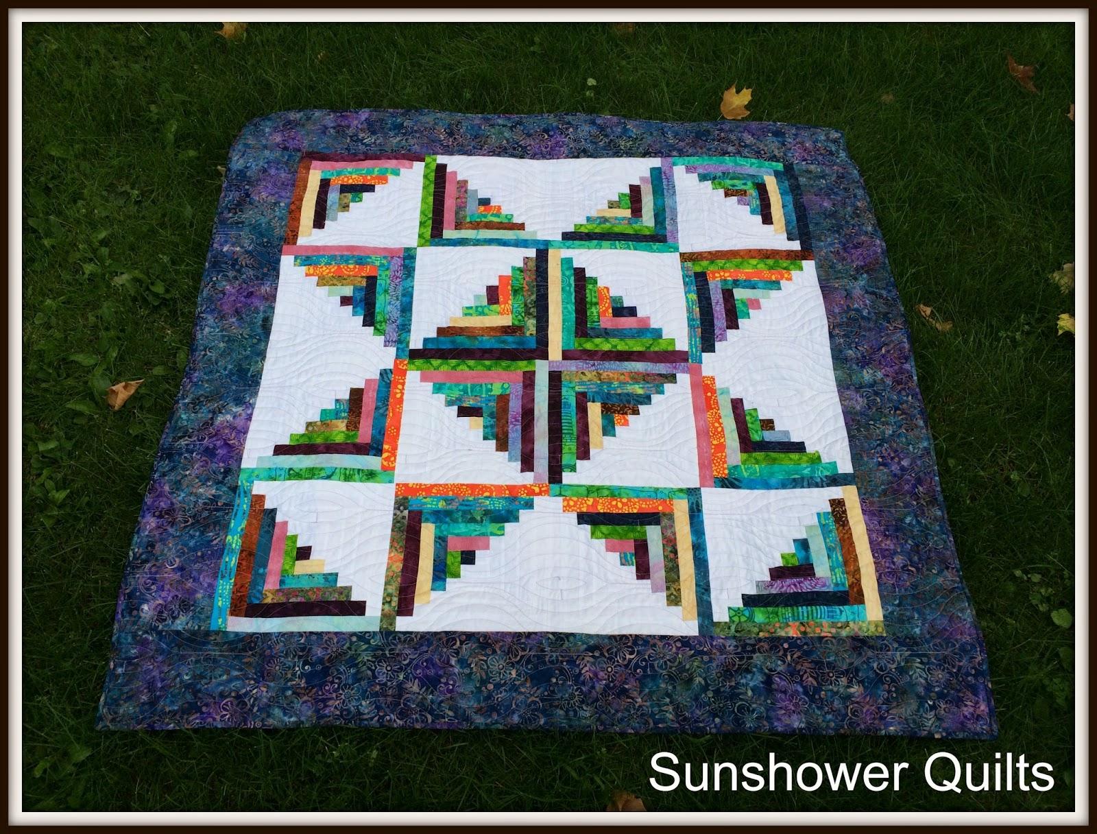 Sunshower Quilts Log Cabin on the Go! # Sunshower Goes_064641