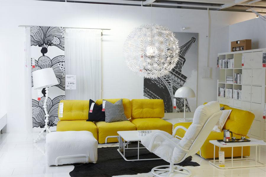 Sala decorada em amarelo e branco Decora231227o e Ideias : sala ikea from decoracaoeideias.blogs.sapo.pt size 900 x 600 jpeg 99kB