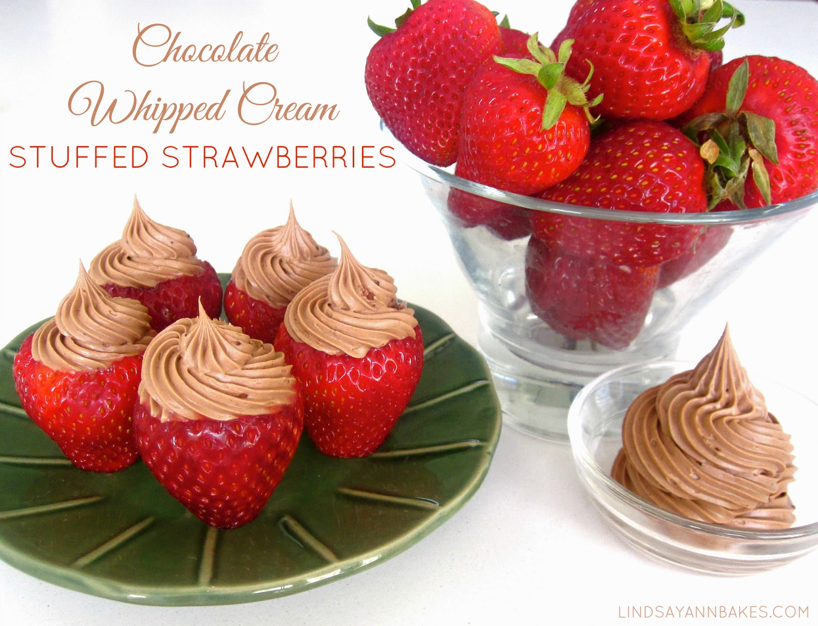 I Love The Look Of The Mousse Piped Into Strawberries Like I Did In My No Bake Cheesecake Stuffed Strawberries So I Just Had To Create A Variation On The