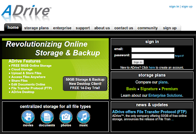 ADrive dropbox alternative