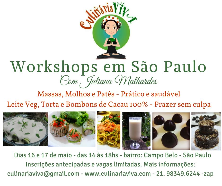 Workshop de Culinária Viva em São Paulo