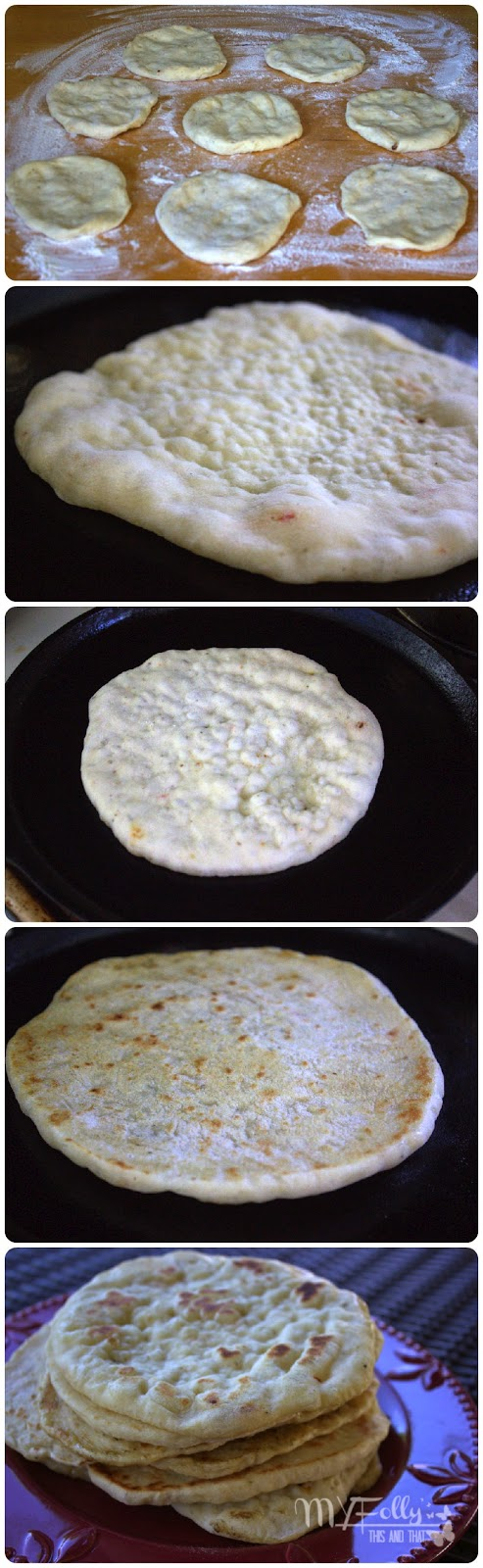 Seasoned Pita Bread/ This and That #bread #pita