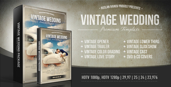 VideoHive Vintage Wedding Package